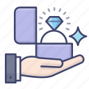 engage, marriage, proposal, propose icon