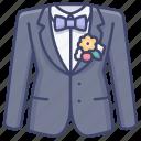 suit, groom, tie, tuxedo