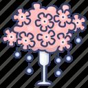 decoration, flower, vase, wedding icon