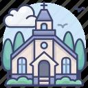 building, catholic, chapel, church icon