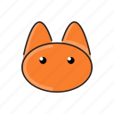 animal, cat, cute, funny, head, pet, zoo icon