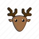animal, cute, deer, funny, head, wild, zoo icon