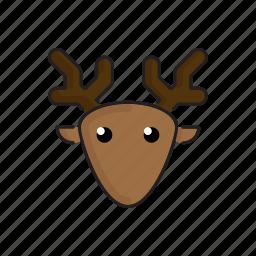 animal, cute, deer, funny, head, wild, zoo icon