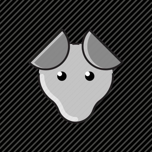 animal, cute, dog, funny, head, pet, zoo icon