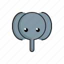 animal, cute, elephant, funny, head, wild, zoo icon