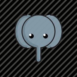 animal, cute, elephant, funny, head, wild, zoo icon