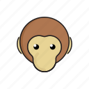 animal, cute, funny, head, monkey, wild, zoo icon