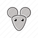 animal, cute, funny, head, mouse, wild, zoo icon