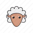 animal, cute, funny, head, pet, sheep, zoo icon