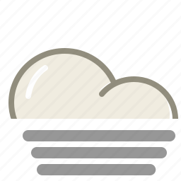 cloud, clouds, cloudy, fog, forecast, weather icon