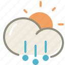 day, hail, forecast, sun, weather icon