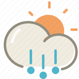 day, forecast, hail, sun, weather icon