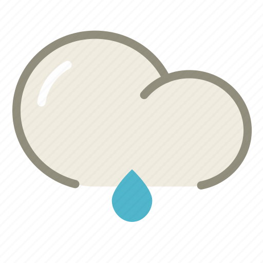cloud, forecast, lightrain, rain, rainy, weather icon
