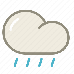 cloud, forecast, lightshowers, rain, rainy, weather icon