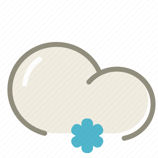 cloud, clouds, cloudy, forecast, lightsnow, snow, snowing, weather, winter icon