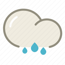 cloud, clouds, forecast, rain, rainy, weather icon
