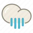 cloud, forecast, rain, rainy, shower, showers, weather icon