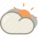 cloud, clouds, cloudy, forecast, interval, sun, sunny, weather icon