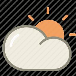 cloud, forecast, period, sun, sunny, weather icon