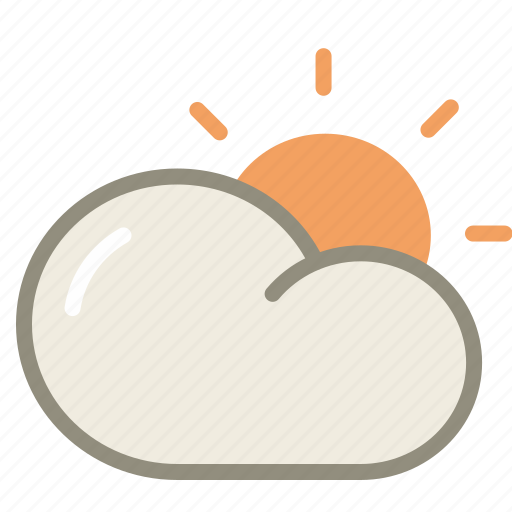cloud, forecast, period, sun, sunny, weather icon
