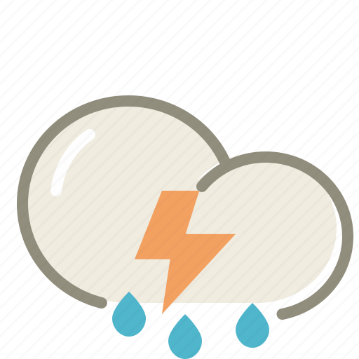 cloud, clouds, forecast, lightning, rain, storm, thunderstorms, weather icon