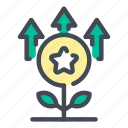 plant, leaf, star, coin, growth, favorite