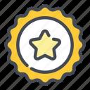 star, badge, reward, favorite, award, rating, achievement