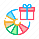 customer, fortune, gift, loyalty, program, wheel icon