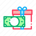 currency, gift, loyalty, money, program icon