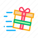 customer, gift, light, loyalty, program, speed icon