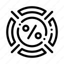 concept, customer, interest, loyalty, program, target icon