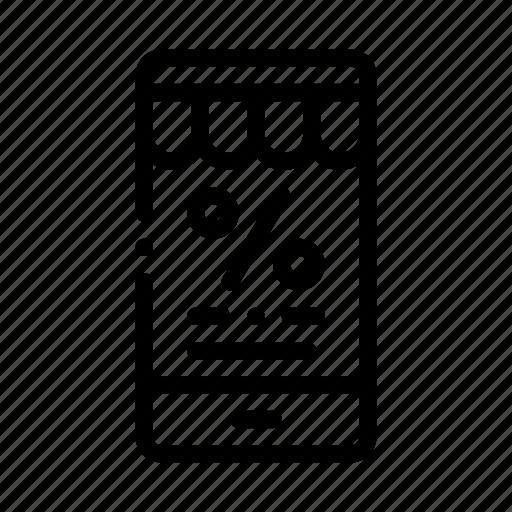 customer, loyalty, message, percent, phone, program icon
