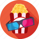 cinema, entertainment, popcorn, spectacle, ticket window icon