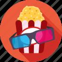 cinema, popcorn, entertainment, spectacle, ticket window icon