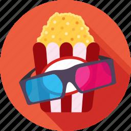 cinema, entertainment, popcorn, spectacle, ticket window icon