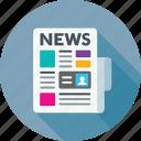 newspaper, news, newsletter, press icon