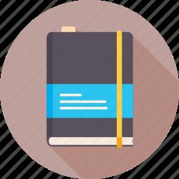 address book, book, note, notebook, pad, roadbook, sketch book icon