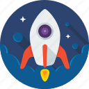 nasa, rocket, space, spaceship, startup icon