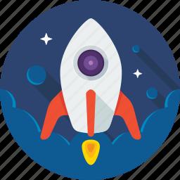 nasa, rocket, space, spaceship, startup icon