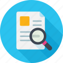 document, find, scan, search, search documents, search file icon