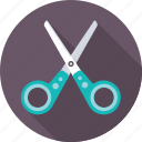 barbershop, craft, cut, salon, scissors, slice, tool icon