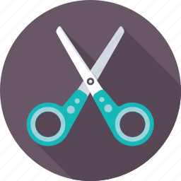 barbershop, craft, cut, salon, scissors, slice, tool icon