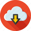 cloud, download, export, guardar, import, save, storage, synchronization icon