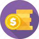 bank, business, cash, coins, finance, financial, money icon