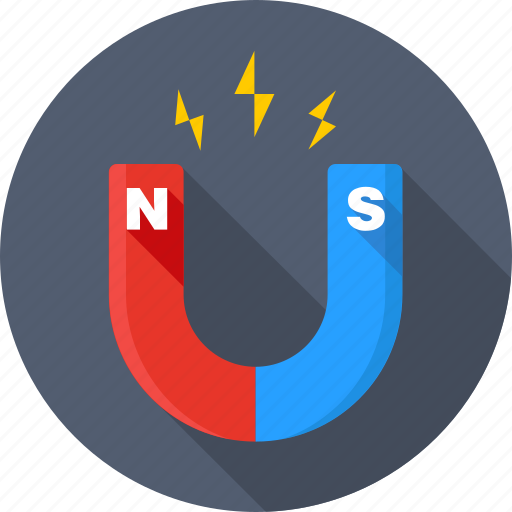 Attraction, magnet, magnetic, physics, power, science, snap icon - Download on Iconfinder