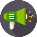 advertising, communication, marketing, megaphone, sound, speaker, volume icon