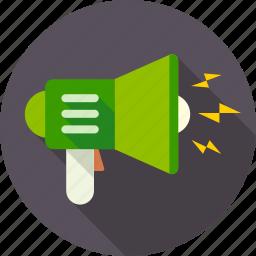 advertising, communication, marketing, megaphone, sound, speaker, volume icon