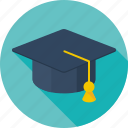 education, hat, headwear, school, scientist, student, study icon