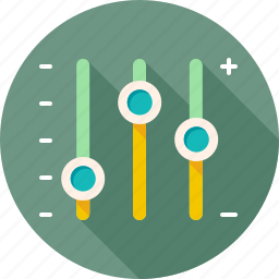 adjust, configuration, dashboard, options, preference, tuning, turning icon