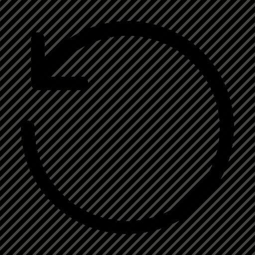 arrow, back, replay, rewind, undo icon